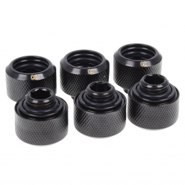Фото Alphacool Eiszapfen 16mm HardTube compression fitting G1/4 Black - 6 шт.