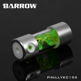 Фото Резервуар Barrow T Virus Reservoir 155 mm Silver-White (Green Spiral) (LLYKC155)