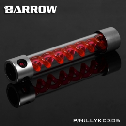 Фото Резервуар Barrow T Virus Reservoir 305 mm Silver-Black (Red Spiral) (LLYKC305)