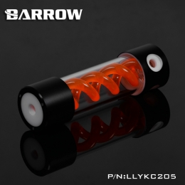 Фото Резервуар Barrow T Virus Reservoir 205 mm Black-White (Orange Spiral) (LLYKC205)