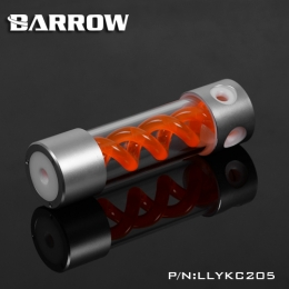 Фото Резервуар Barrow T Virus Reservoir 205 mm Silver-White (Orange Spiral) (LLYKC205)