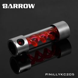 Фото Резервуар Barrow T Virus Reservoir 205 mm Silver-Balck (Red Spiral) (LLYKC205)