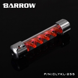 Фото Резервуар Barrow T Virus Reservoir 255 mm Silver (Red Spiral) (CLYKL255)
