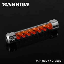 Фото Резервуар Barrow T Virus Reservoir 305 mm Silver (Orange Spiral) (CLYKL305)