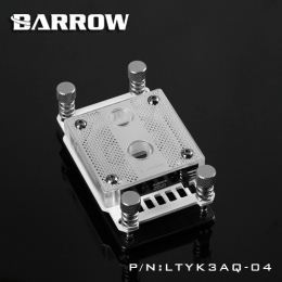 Фото Водоблок на процессор Barrow AMD AM4 Acrylic White (LTYK3AQ-04)