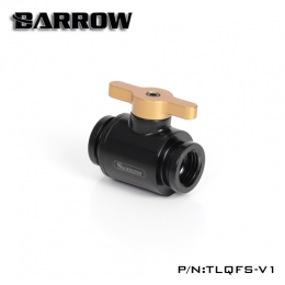 Фото Кран Barrow Mini Valve G1/4 Black-Gold (TLQFS-V1)