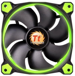 Фото Корпусный кулер Thermaltake Riing 14, Green LED (CL-F039-PL14GR-A)
