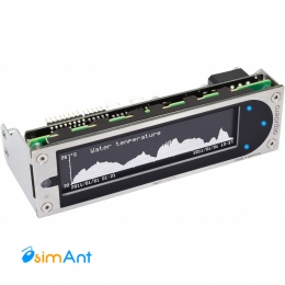 Фото Дисплей aquaero 6 XT blue USB fan controller, graphic LCD, touch control, IR remote control