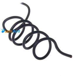 Монтажный высоковольтный провод в силиконовой изоляции (черный)