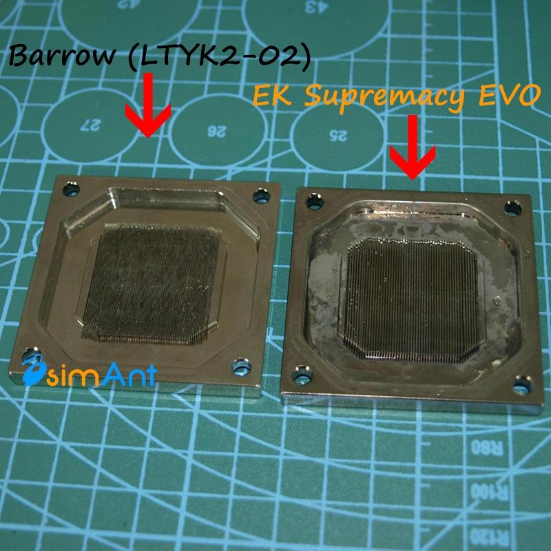 Микроканальная система основания водоблока barrow LTYK2-02